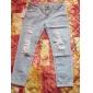 Femei Pantalon Casual Bumbac / Denim