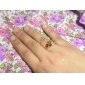 Yueli femei 18K aur zircon Ring J0490