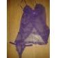 Dame Babydoll & Slip Pijamale Plasă Dantelă Solid