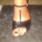 Dam Barn Latinamerikansk Sällskap Glitter Sandaler Spänne Glitter Låg klack Svart Röd Guld Fuchsia Royal Blå 2,5 cm Går ej att