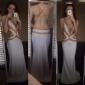 Trompetă / Sirenă Gât V Mătura / Trenă Tricot Bal Seară Formală Rochie cu Mărgele Detalii Cristal de TS Couture®