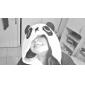 Pijama Kigurumi Panda Pijama Întreagă Costume Lână polară Negru/Alb Cosplay Pentru Adulți Sleepwear Pentru Animale Desen animat Halloween