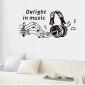 perete decalcomanii autocolante de perete, autocolante de perete muzică decor acasă murale poster pvc