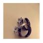 bijuterii cadou personalizat inel stras oțel inoxidabil gravat