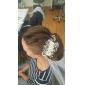 Femei Ștras Cristal Aliaj Material Textil Diadema-Nuntă Ocazie specială Exterior Flori Agrafă