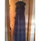 Homecoming seara formale rochie o linie gât înalt podea lungime sifon