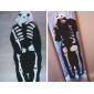 Kigurumi Pijamale noul Cosplay® Schelet Costume Negru Lână polară Leotard / Onesie Festival / Sărbătoare Sleepwear Pentru Animale