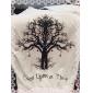 Women's Round Collar Letter Tree Print Sweatshirt(More Colors)