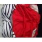 dungi roșu set bikini femei / alb, talie mare ștreangul sexy