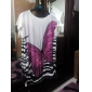 femei fluture de imprimare rochie mini vrac