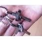 în formă de cruce cadou personalizat gravat cuplu colier (în termen de 10 de caractere)