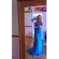Trompetă / Sirenă Gât Înalt Trenă Court Șifon Seară Formală Bal Militar Rochie cu Mărgele Detalii Cristal Drapat de TS Couture®