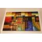 Pictat manual Abstract Orizontal, Clasic Modern pânză Hang-pictate pictură în ulei Pagina de decorare Cinci Panouri
