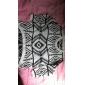 femei geometrie a rundă pulover pulover de imprimare