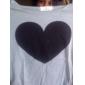 femei inima t-shirt cu maneca lunga T-shirt