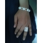 Argint placat cu argint special cu Cubic Zirconia femei Ring