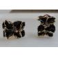 viva kvinnors blomma mönster koreanska söta örhängen