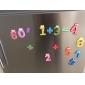 Funny de culoare Math simbol din lemn magneți pentru frigider educaționale jucărie (Number 0-9 și Sign)