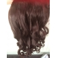 24 pouces 120g à long brun fibre synthétique résistant à la chaleur bouclés pince noir dans les extensions de cheveux avec 5 clips