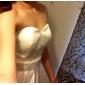 Linia -A In Formă de Inimă Lungime Podea Satin Rochie de mireasă cu Mărgele de LAN TING BRIDE®