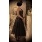 A-line printesa un umăr gleznă lungime tul bal rochie petrecere rochie cu draping de ts couture®