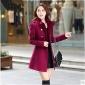 Femei Plus Size Femei Palton Manșon Lung Poliester / Amestec Lână