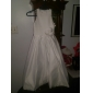 A-line printesa podea lungime floare fată rochie - satin fără mâneci gât bijuterie cu floare de lan ting bride®