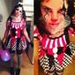 Burlesk/CLågn Cirkus Harley Quinn Cosplay Kostymer/Dräkter Festklädsel Kvinna Halloween Karnival Festival / högtid Halloweenkostymer Röd