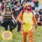 kigurumi Pyjamas Tiger Collant/Combinaison Fête / Célébration Pyjamas Animale Halloween Orange Motif Animal Mosaïque Polaire Kigurumi Pour