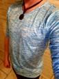 Ανδρικά T-shirt Βασικό Μονόχρωμο Λαιμόκοψη V Λεπτό Στάμπα Καφέ XL / Μακρυμάνικο / Άνοιξη / Φθινόπωρο
