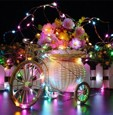 24pcs 1M 10Leds LED String Fairy Lights Garland Decorative Light Outdoor String Lights Copper Wire CR2032 Battery Operated Christmas Wedding Party Decoration
