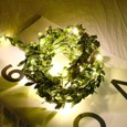 1pcs 10m 100leds Outdoor LED Holiday Light Leaf Twine Fairy Garland String Lights Battery Power Operate for Rustic Wedding Party Decor