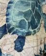 öljymaalaus tyyli seinävaatekangas art decor huopa verho riippuva kodin makuuhuone olohuone sisustus merenpohja eläinten kilpikonna