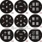 Planche d'Images pour Décoration d'Ongles, Series Tampons, Plaque Q