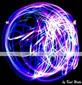 1 st färgrik ledde laser finger ljus (färg slumpvis)