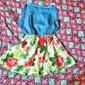 Fata lui Rochie Floral Peteci Bumbac Vară Fără manșon Floral Rosu Albastru